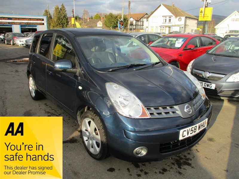 used Nissan Note TEKNA in gwent