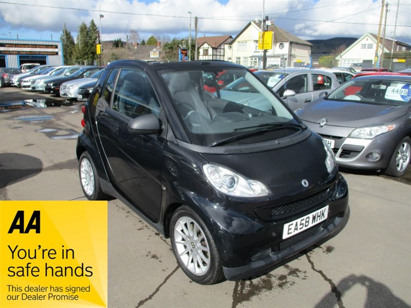 used Smart Car Fortwo Cabrio PASSION in gwent
