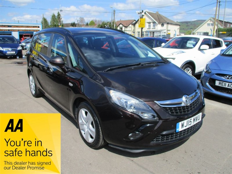used Vauxhall Zafira Tourer Exclusiv in gwent