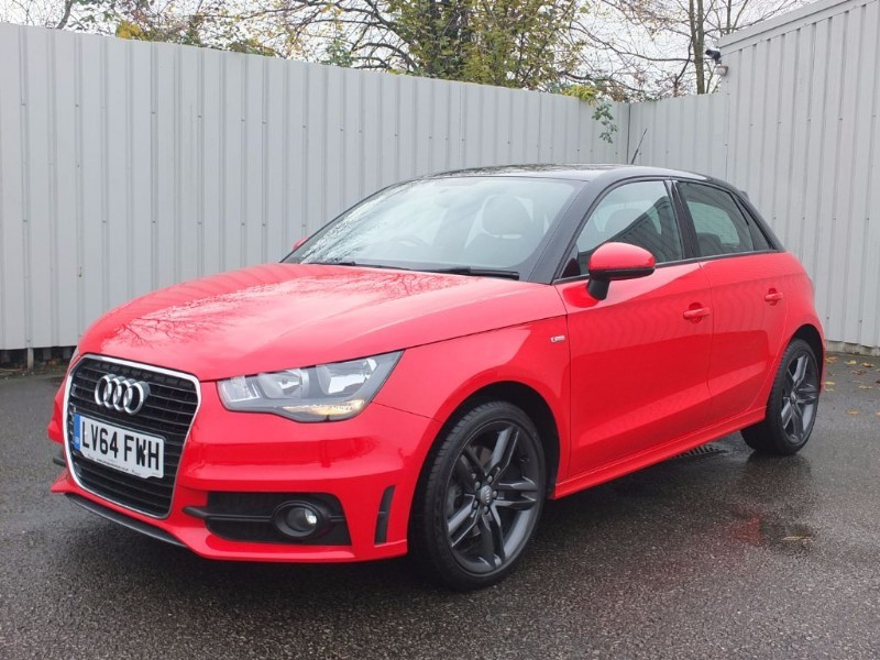 used Audi A1 1.4 TFSI Sportback S Line 5dr Red/Black Roof