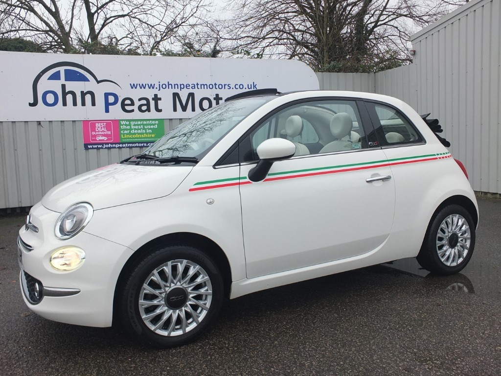 used Fiat 500 1.2 C Lounge 3dr Convertible