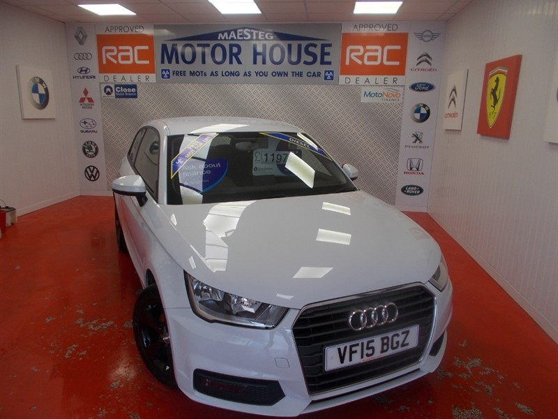 used Audi A1 TDI SPORT(ONLY 26000 MILES & £0.00 ROAD TAX) FREE MOT'S AS LONG AS YOU OWN THE CAR!! in glamorgan