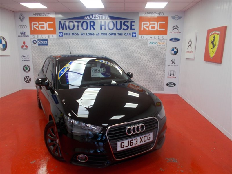 used Audi A1 SPORTBACK TDI SPORT(FREE MOT'S AS LONG AS YOU OWN THE CAR!!) in glamorgan