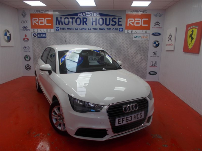 used Audi A1 SPORTBACK TDI SE(£0.00 ROAD TAX)FREE MOT'S AS LONG AS YOU OWN THE CAR!!! in glamorgan