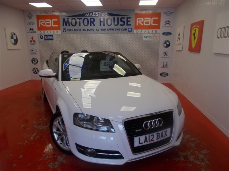 used Audi A3 TFSI SPORT ( A STUNNING EXAMPLE) FREE MOT'S AS LONG AS YOU OWN THE CAR!!! in glamorgan
