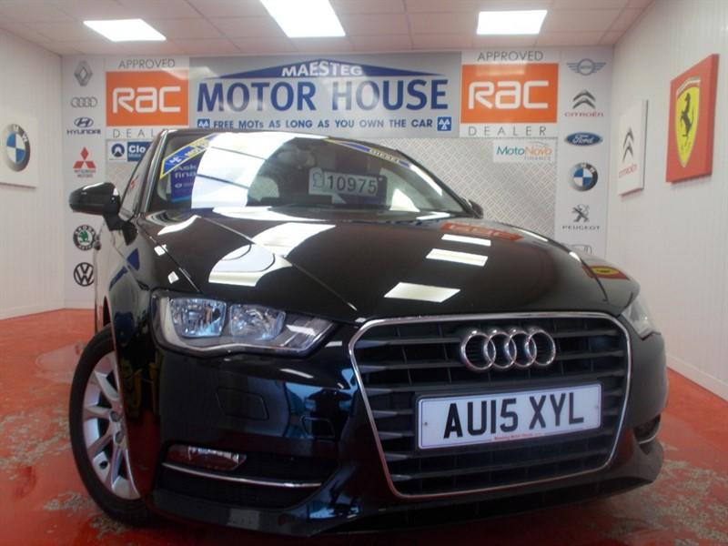 used Audi A3 TDI SE(SAT NAV)(£0.00 ROAD TAX)(40887 MILES) FREE MOT'S AS LONG AS YOU OWN THE CAR!! in glamorgan