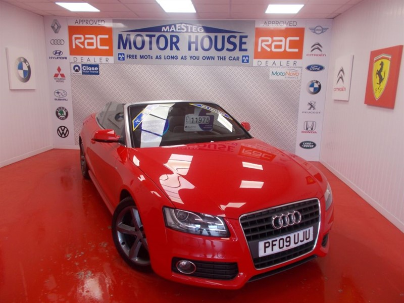 used Audi A5 TFSI S LINE(FREE MOT'S AS LONG AS YOU OWN THE CAR!!!) in glamorgan