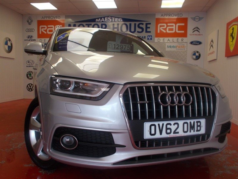 used Audi Q3 TDI QUATTRO S LINE( ONLY 44434 MILES) FREE MOT'S AS LONG AS YOU OWN THE CAR!!! in glamorgan
