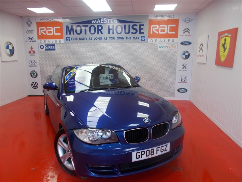used BMW 120i SE(HALF LEATHER AND GREAT SPEC) FREE MOT'S AS LONG AS YOU OWN THE CAR!!! in glamorgan