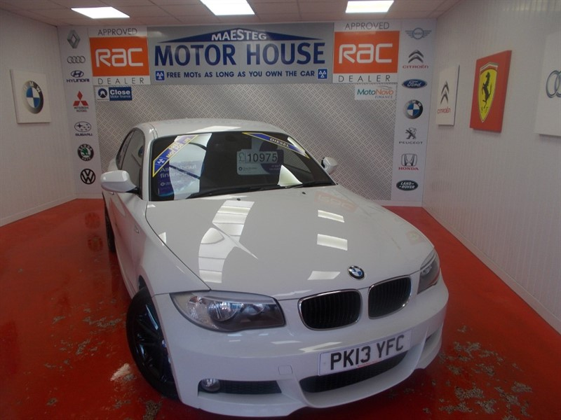 used BMW 118d M SPORT (HALF LEATHER & ONLY £30.00 ROAD TAX) FREE MOT'S  AS LONG AS YOU OWN THE CAR!!! in glamorgan