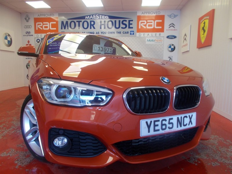 used BMW 120d M SPORT (ONLY 21453 MILES) (SAT NAV) FREE MOT'S AS LONG AS YOU OWN THE CAR!!! in glamorgan