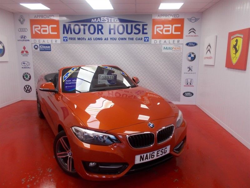 used BMW 218i SPORT(FULL LEATHER & SAT NAV) FREE MOT'S AS LONG AS YOU OWN THE CAR!!! in glamorgan