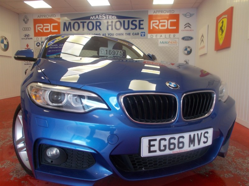 used BMW 218d M SPORT (£30.00 ROAD TAX) (SAT NAV) FREE MOT'S AS LONG AS YOU OWN THE CAR!! in glamorgan