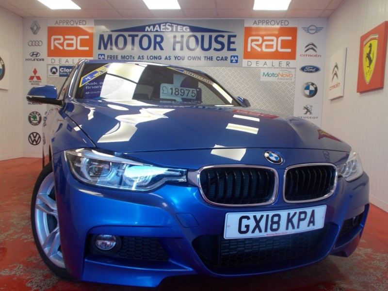 used BMW 320d M SPORT(ONLY 16199 MILES) MASSIVE SAVING FROM NEW!! FREE MOT'S AS LONG AS YOU OWN THE CAR!!! in glamorgan