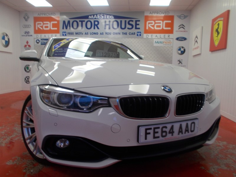 used BMW 425d SPORT ( FULL LEATHER) FREE MOT'S AS LONG AS YOU OWN THE CAR!!! in glamorgan