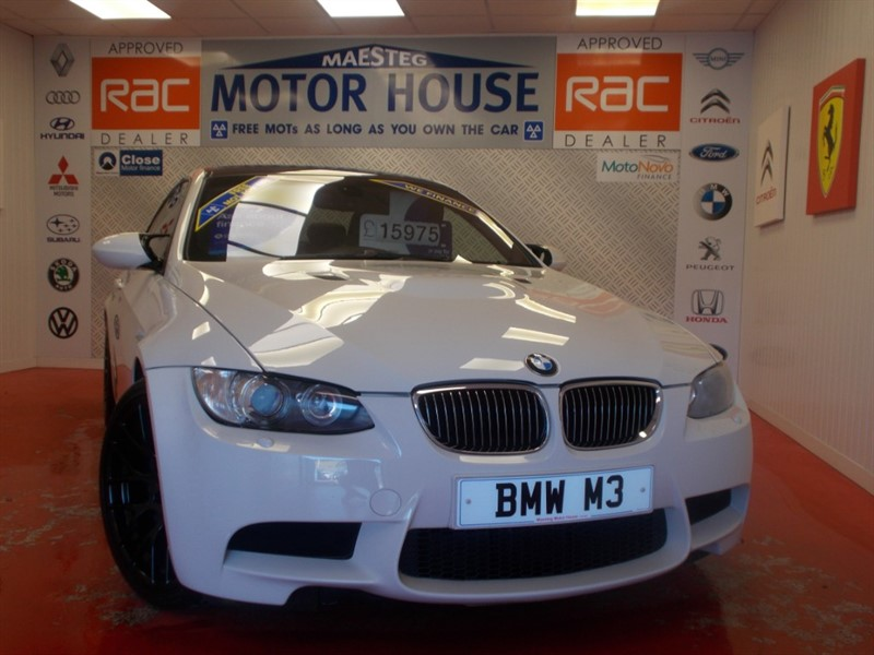 used BMW M3 M3 (MUST BE VIEWED) (HUGE SPEC ONLY 87443 MILES) FREE MOT'S AS LONG AS YOU OWN THE CAR!!! in glamorgan