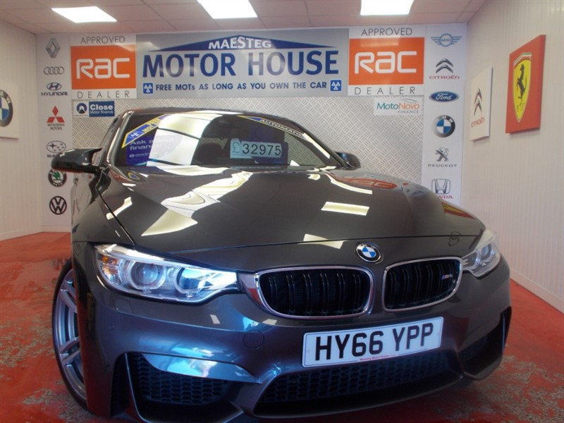 used BMW M4 FULL RED LEATHER (ONLY 27774 MILES) (HUGE SPEC) FREE MOT'S AS LONG AS YOU OWN THE CAR!!! in glamorgan
