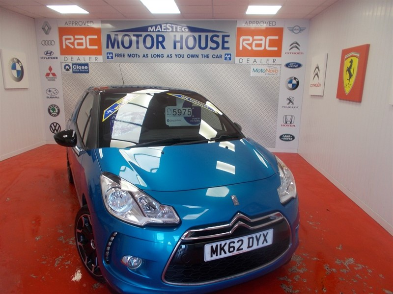 used Citroen DS3 DSTYLE PLUS (ONLY 30000 MILES)FREE MOT'S AS LONG AS YOU OWN THE CAR!!! in glamorgan