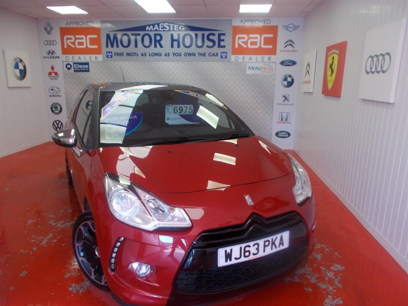 used Citroen DS3 THP DSPORT PLUS(ONLY 24000 MILES)(FULL LEATHER) FREE MOT'S AS LONG AS YOU OWN THE CAR!!! in glamorgan