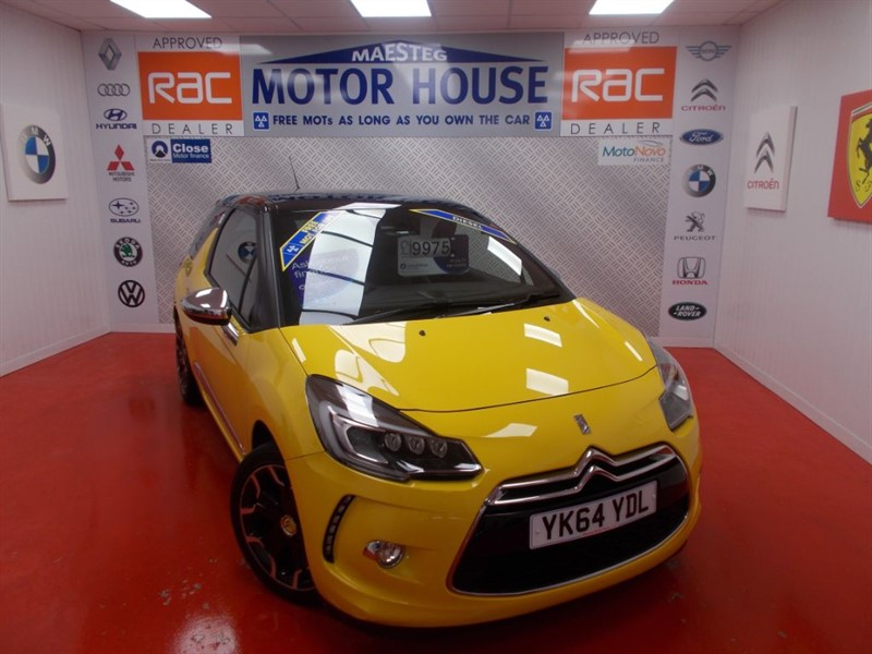 used Citroen DS3 BLUEHDI DSPORT PLUS(£0.00 ROAD TAX)FREE MOT'S AS LONG AS YOU OWN THE CAR!!! in glamorgan