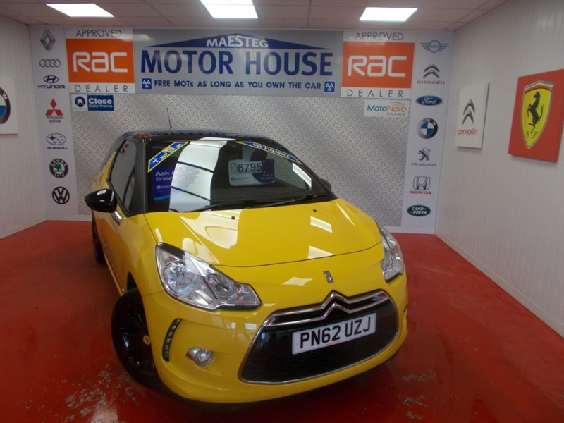 used Citroen DS3 DSTYLE PLUS(SIMPLY STUNNING)FREE MOT'S AS LONG AS YOU OWN THE CAR!!! in glamorgan
