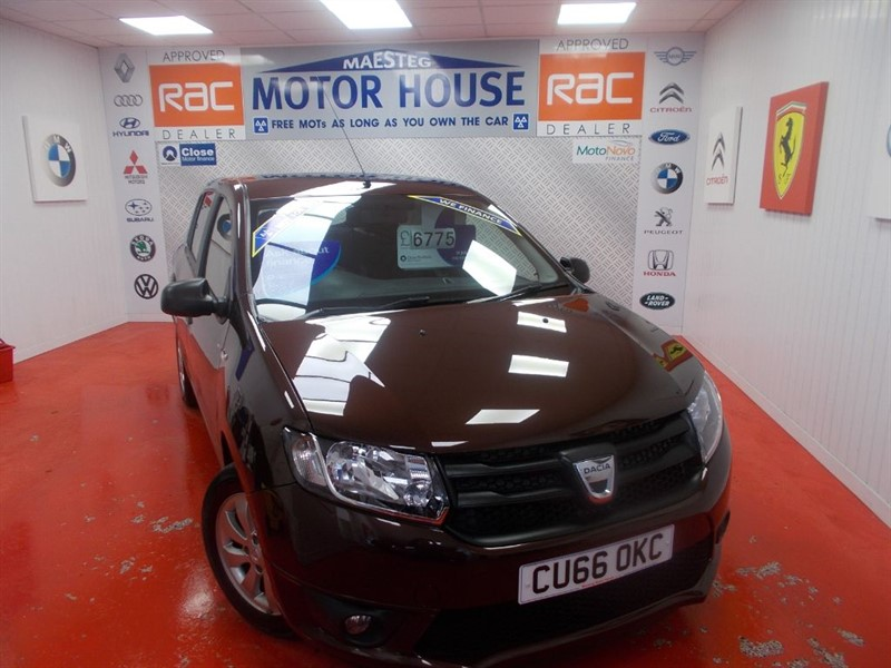 used Dacia Sandero AMBIANCE PRIME(ONLY 19000 MILES)FREE MOT'S AS LONG AS YOU OWN THE CAR!!! in glamorgan