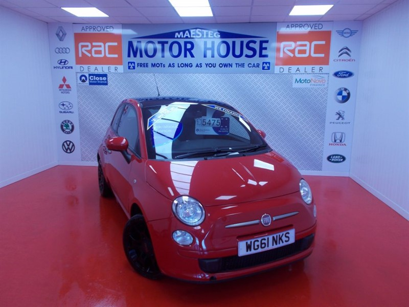 used Fiat 500 TWINAIR PLUS (£0.00 ROAD TAX) FREE MOT'S AS LONG AS YOU OWN THE CAR!!!! in glamorgan