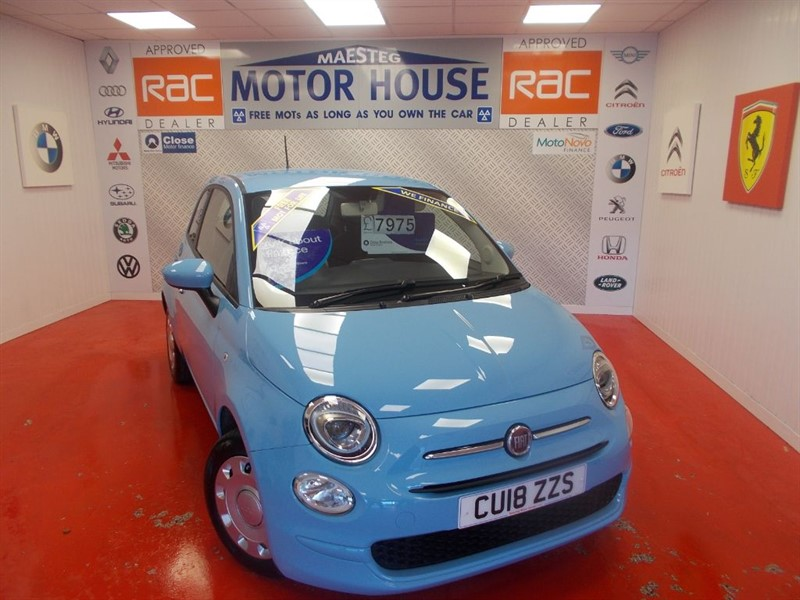 used Fiat 500 POP(ONLY 11000 MILES) FREE MOT'S AS LONG AS YOU OWN THE CAR!!! in glamorgan
