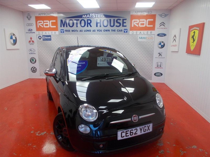 used Fiat 500 STREET(HALF LEATHER)FREE MOT'S AS LONG AS YOU OWN THE CAR!!! in glamorgan