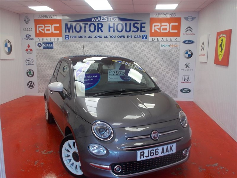 used Fiat 500 LOUNGE(STUNNING AND MUST BE VIEWED)FREE MOT'S AS LONG AS YOU OWN THE CAR!!! in glamorgan