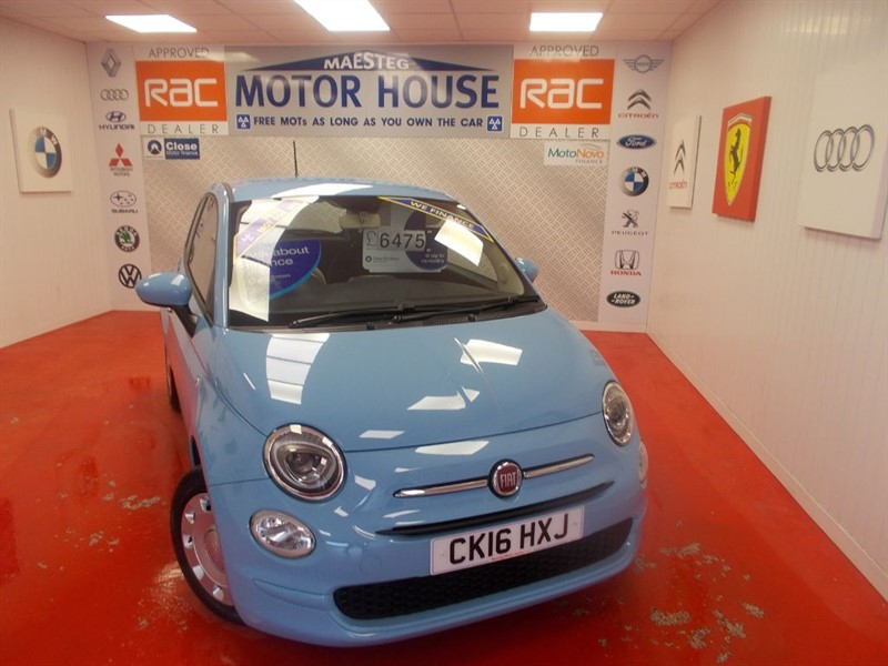 used Fiat 500 POP(£20.00 ROAD TAX)ONLY 18000 MILES FREE MOT'S AS LONG AS YOU OWN THE CAR! in glamorgan