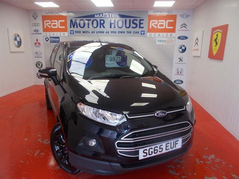 used Ford EcoSport ZETEC TDCI (£30.00 ROAD TAX) (ONLY 15000 MILES) FREE MOT'S AS  LONG AS YOU OWN THE CAR!!! in glamorgan