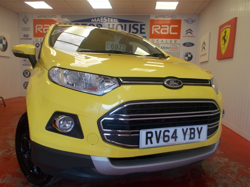 used Ford EcoSport TITANIUM X-PACK(FULL LEATHER) FREE MOT'S AS LONG AS YOU OWN THE CAR!!! in glamorgan
