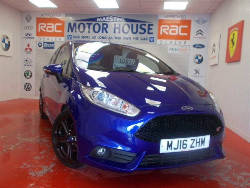 used Ford Fiesta ST-3 (SAT NAV AND ONLY 37121 MILES) FREE MOT''S AS LONG AS YOU OWN THE CAR!!! in glamorgan