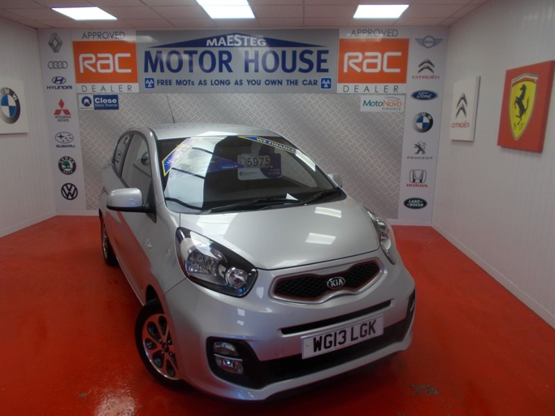 used Kia Picanto CITY(KIA 7 YEAR WARRANTY)FREE MOT'S AS LONG AS YOU OWN THE CAR!!! in glamorgan