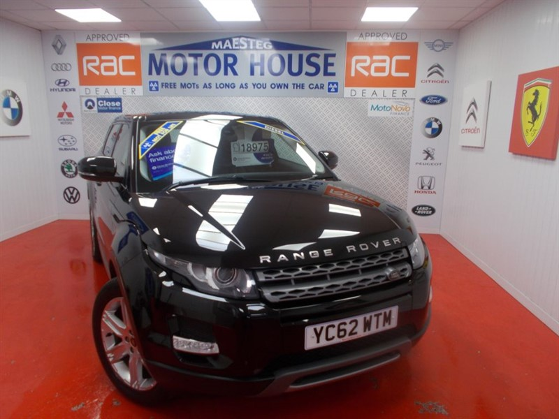 used Land Rover Range Rover Evoque TD4 PURE TECH(FULL LEATHER) FREE MOT'S AS LONG AS YOU OWN THE CAR!!! in glamorgan