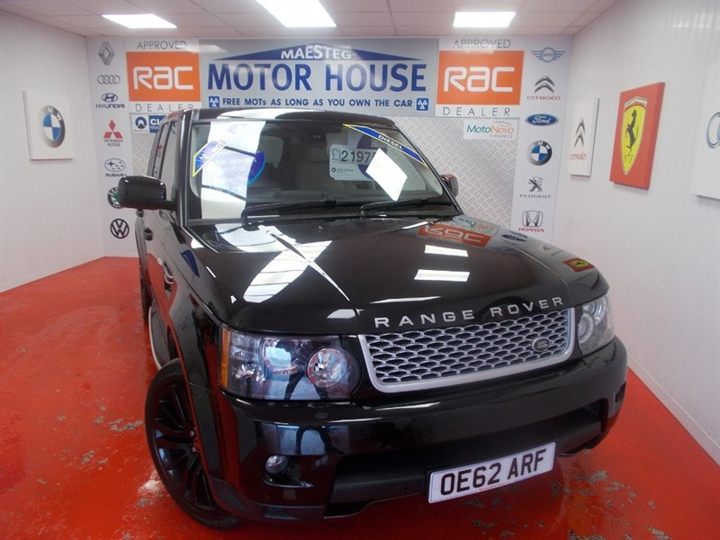 used Land Rover Range Rover Sport SDV6 HSE(SAT NAV & FULLY LOADED)FREE MOT'S AS LONG AS YOU OWN THE CAR!!! in glamorgan