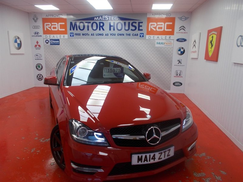 used Mercedes C220 CDI AMG SPORT EDITION PREMIUM PLUS(FREE MOT'S AS LONG AS YOU OWN THE CAR!! in glamorgan