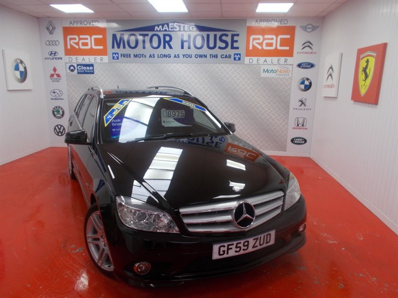 used Mercedes C220 CDI BLUEEFFICIENCY SPORT(FREE MOT'S AS LONG AS YOU OWN THE CAR!!!) in glamorgan