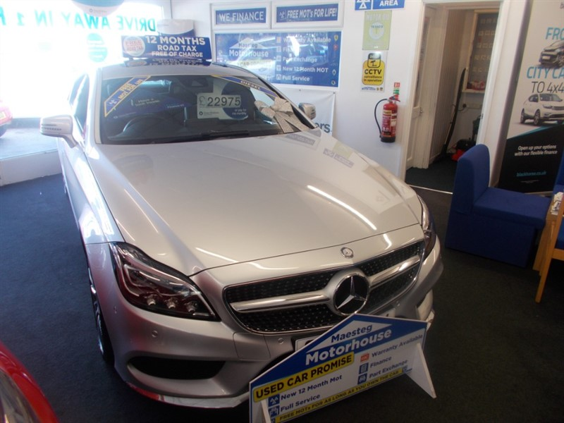 used Mercedes CLS350 CDI CLS350 D AMG LINE PREMIUM PLUS (27625) FREE MOT'S AS LONG AS YOU OWN THE CAR!!! in glamorgan
