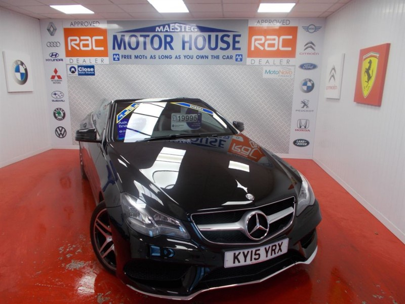 Car of the week - Mercedes E220 BLUETEC AMG LINE(FREE MOT'S AS LONG AS YOU OWN THE CAR!!!) - Only £19,975