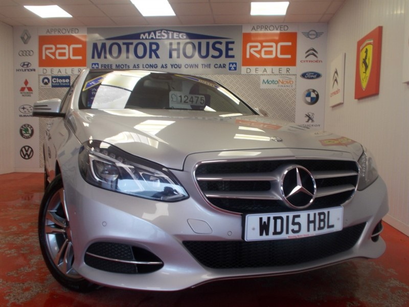 used Mercedes E220 BLUETEC SE(£30.00 ROAD TAX AND SAT NAV) FREE MOT'S AS LONG AS YOU OWN THE CAR!!! in glamorgan