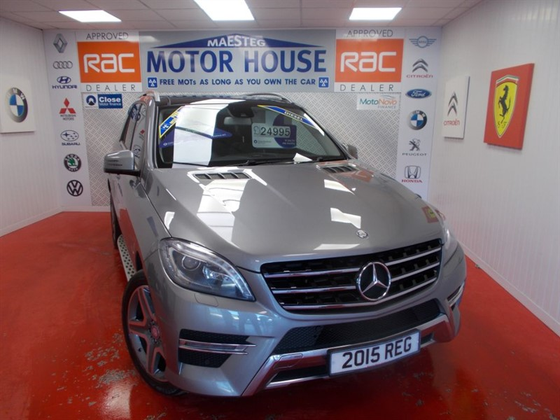 used Mercedes ML350 BLUETEC AMG LINE PREMIUM(FREE MOT'S AS LONG AS YOU OWN THE CAR!!!) in glamorgan