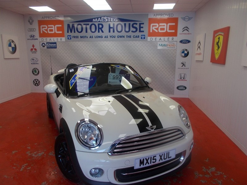 used MINI Convertible COOPER ROADSTER CONVERTIBLE (ONLY 41000 MILES) FREE MOT'S AS LONG AS YOU OWN THE CAR!!! in glamorgan