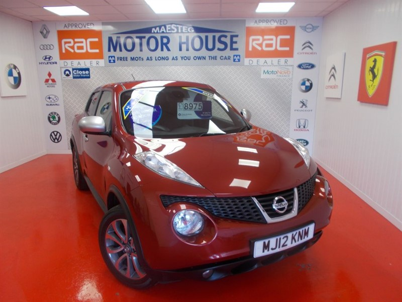 used Nissan Juke SHIRO DCI(FULL LEATHER&SAT NAV)FREE MOT'S AS LONG AS YOU OWN THE CAR!!! in glamorgan