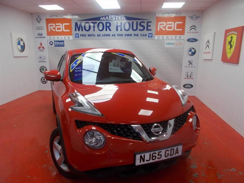 used Nissan Juke VISIA DCI(£20.00 ROAD TAX) FREE MOT'S AS LONG AS YOU OWN THE CAR!! in glamorgan