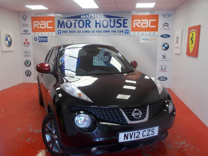 used Nissan Juke ACENTA PREMIUM (SAT NAV) FREE MOT'S AS LONG AS YOU OWN THE CAR!!! in glamorgan