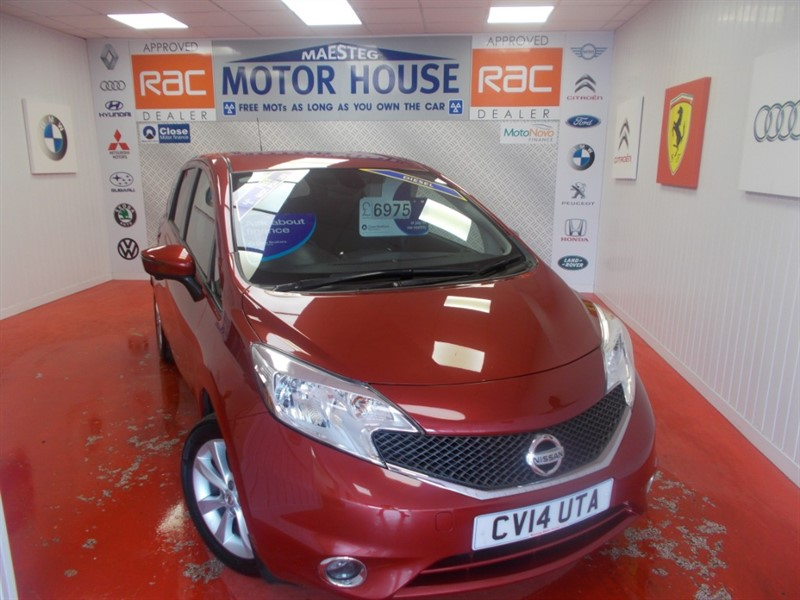 used Nissan Note DCI TEKNA  (SAT NAV) (£0.00 ROAD TAX) FREE MOT'S AS LONG AS YOU OWN THE CAR!! in glamorgan