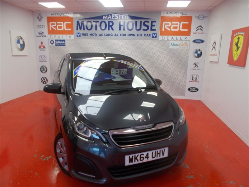 used Peugeot 108 ACTIVE TOP(OPEN TOP) FREE MOT'S AS LONG AS YOU OWN THE CAR!!! in glamorgan