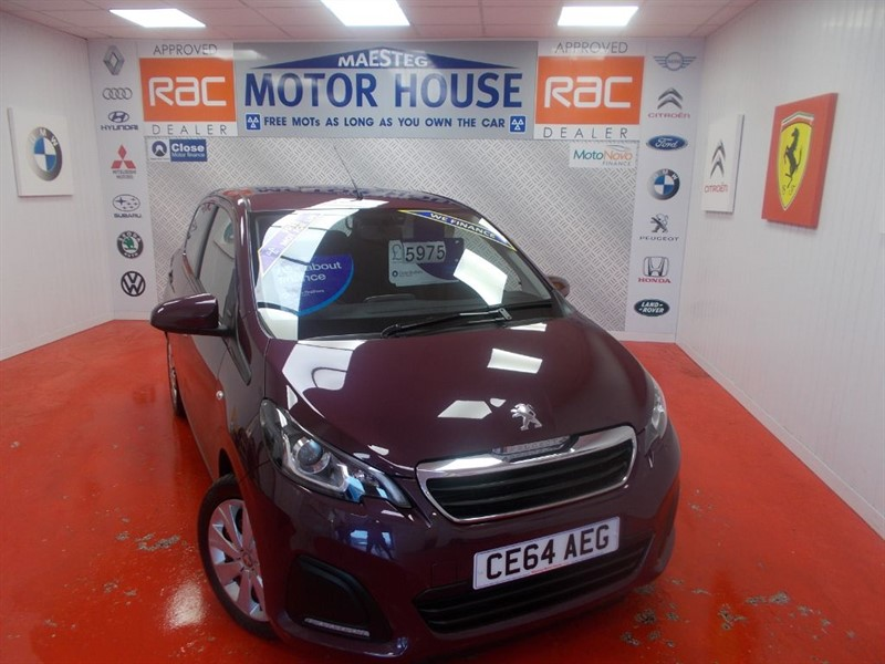 used Peugeot 108 ACTIVE(£0.00 ROAD TAX) FREE MOT'S AS LONG AS YOU OWN THE CAR!!! in glamorgan